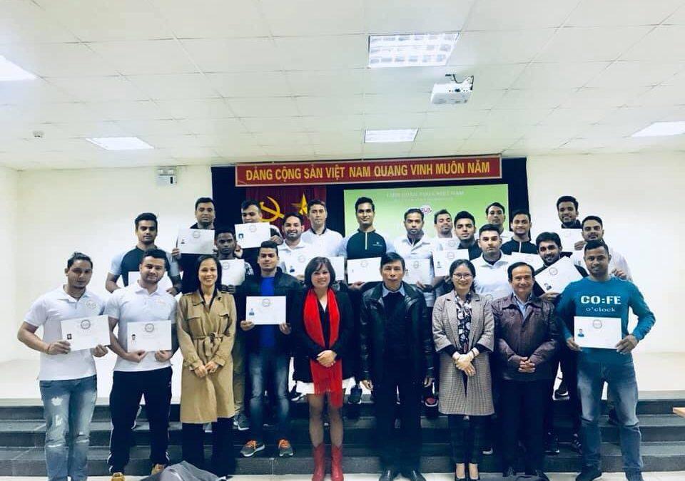 Văn phòng Liên đoàn Yoga Việt Nam thông báo các lớp tập huấn chuyên môn, nghiệp vụ HLV Yoga tại Buôn Mê Thuột và Hà Nội năm 2019