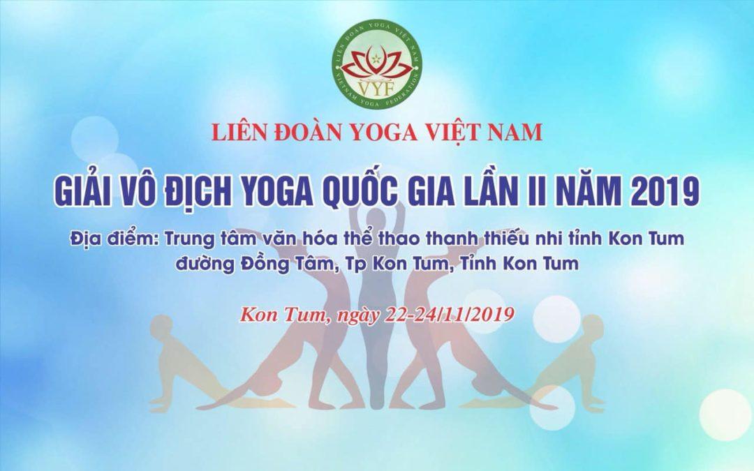 Giải vô địch Yoga Quốc gia lần II năm 2019