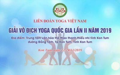Điều lệ giải Yoga Quốc gia 2019 và Mẫu đăng ký