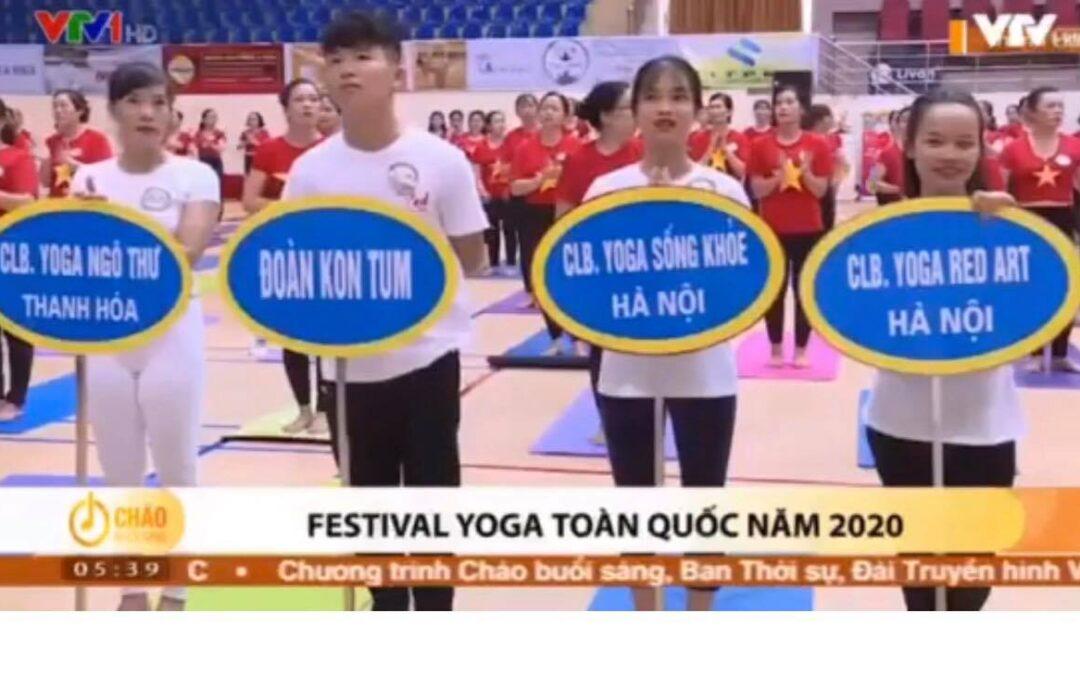 BẢN TIN CHÀO BUỔI SÁNG VTV1 ngày 29/6/2020 đưa tin về Festival Yoga Toàn quốc tại Thanh Hoá