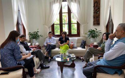 Chủ tịch Vũ Trọng Lợi thăm và làm việc với Đại sứ quán Ấn Độ và Trung tâm Văn hóa Swami Vivekanand tại Việt Nam