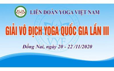 Điều lệ Giải Vô địch Yoga quốc gia lần III năm 2020