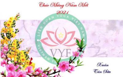 Liên đoàn Yoga Việt Nam chúc mừng năm mới toàn thể quý hội viên tổ chức và hội viên cá nhân
